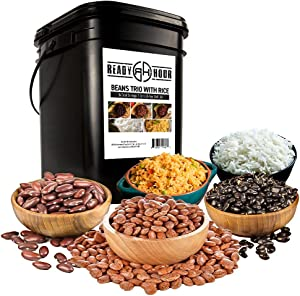 Patriot Pantry Beans Trio with Rice Emergency Food Kit (100 Servings, 14 pk.) by Ready Hour