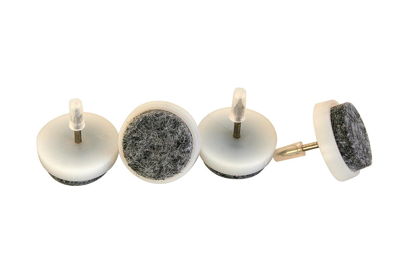 Blanc Patin glisseur en feutre /à clouer Lot de 24 /ø 28 mm