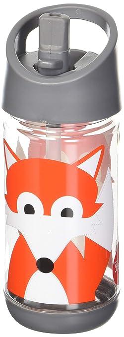 prijs 50% prijs gezellig fris 3 Sprouts Water Bottle Kids Small Spill Proof Plastic Spout Water Bottle,  Orange, Fox