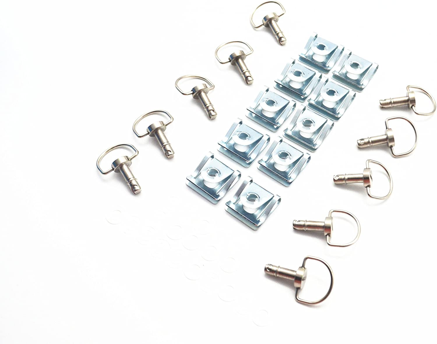 10 Pack MOTO4U Motorcycle Quick Release Race Fasteners 1//4 Turn 17mm D-Ring Length in gold