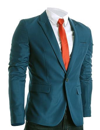 FLATSEVEN Mens Designer Slim Fit Stylish Peaked Lapel Blazers at ...