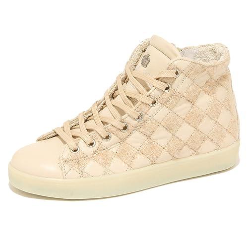 7724N sneaker LEATHER CROWN beige  zapatos mujer Zapatos Zapatos mujer Mujer e28761