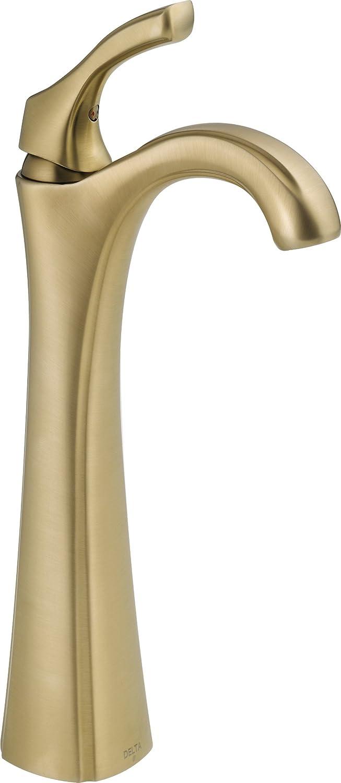 Delta 792-CZ-DST Addison Single Handle Centerset Bathroom Faucet with Riser - Less Pop-Up, Champagne Bronze