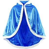 JerrisApparel Niña Princesa Capa Disfraz con Capucha Navidad Abrigos