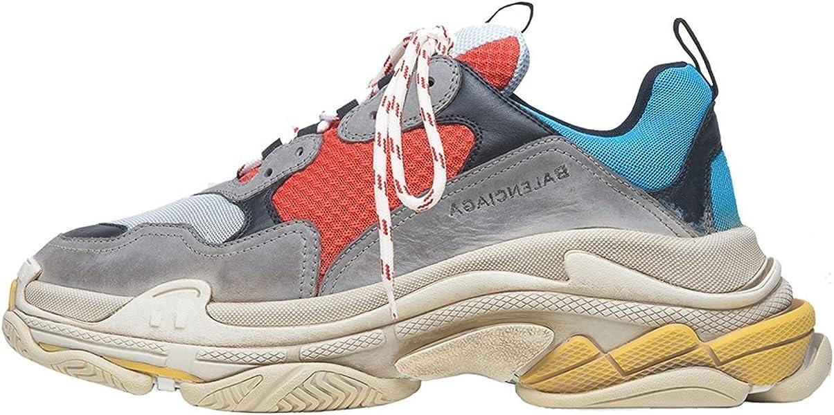 sneakershop Balenciaga Triple-S Sneaker - Zapatillas para Mujer Rojo/Azul