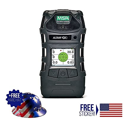 MSA Altair 5X Multigas Detector Economy Kit (Color Display) With American Hard Hat and American Sticker (Included) - - Amazon.com