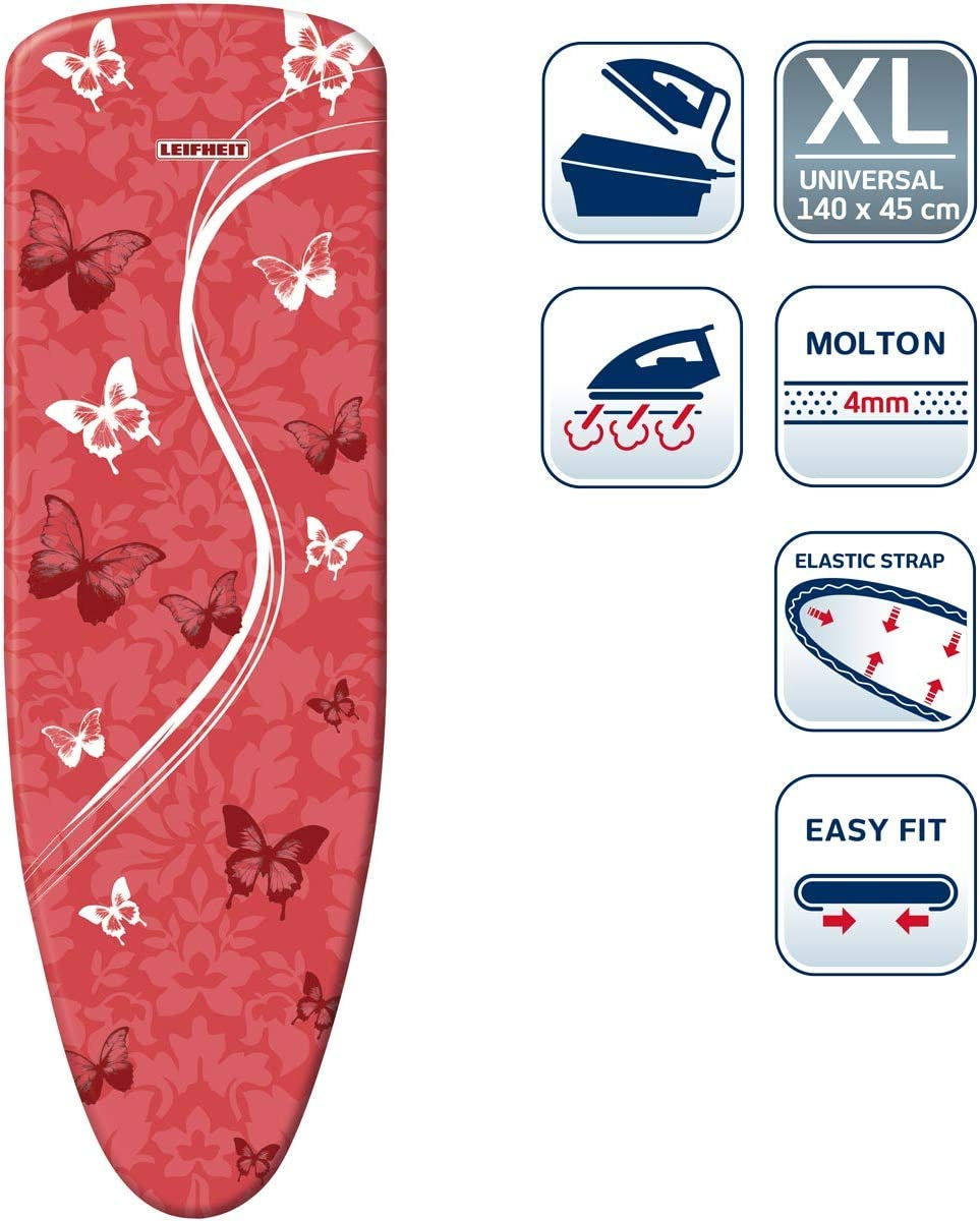 Leifheit–Funda para Tabla de Planchar Vapor Aire Junta Express Universal 140x 45cm, Multicolor