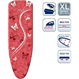Leifheit L71615 Perfect Steam Air Board Express Universal Ironing Board Cover, 140cm x 45cm, Red