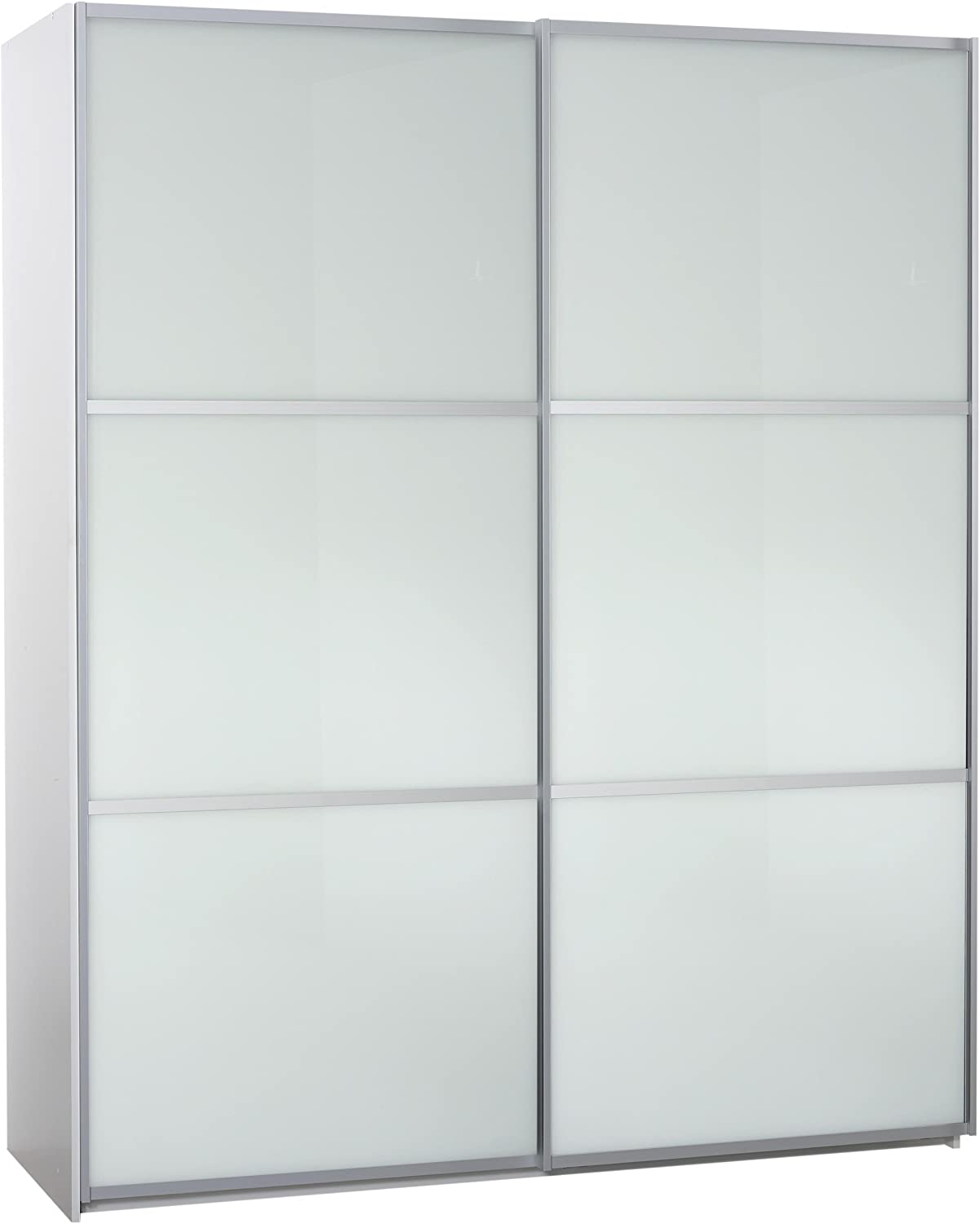 Furniture To go – Puerta Corredera de Cristal Robe, 220 x 180 x 64 cm, Color Blanco: Amazon.es: Hogar