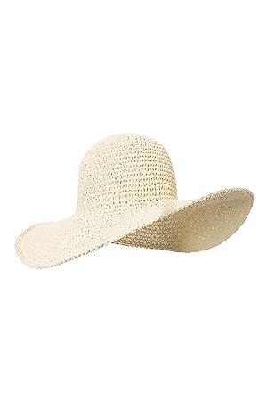 Mountain Warehouse Straw Brimmed Womens Hat - 100% Straw Summer Hat ... dd24aceca1eb