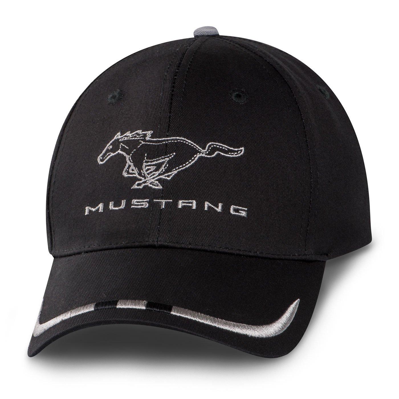 Ford Mustang Black Racing Baseball Cap