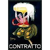 """Framed Art Print, 'Contratto (ca.1922)' by Leonetto Cappiello: Outer Size 25 x 37"""""""