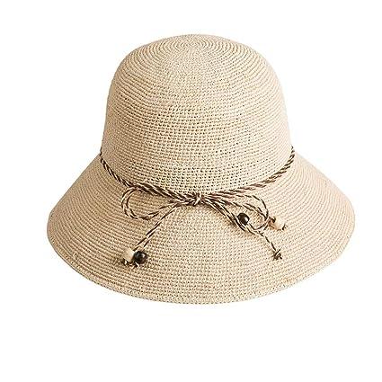 4ddb1ec23 Amazon.com: Tiakey Straw Hat Sun Hat Female Summer Beach Hat Korean ...