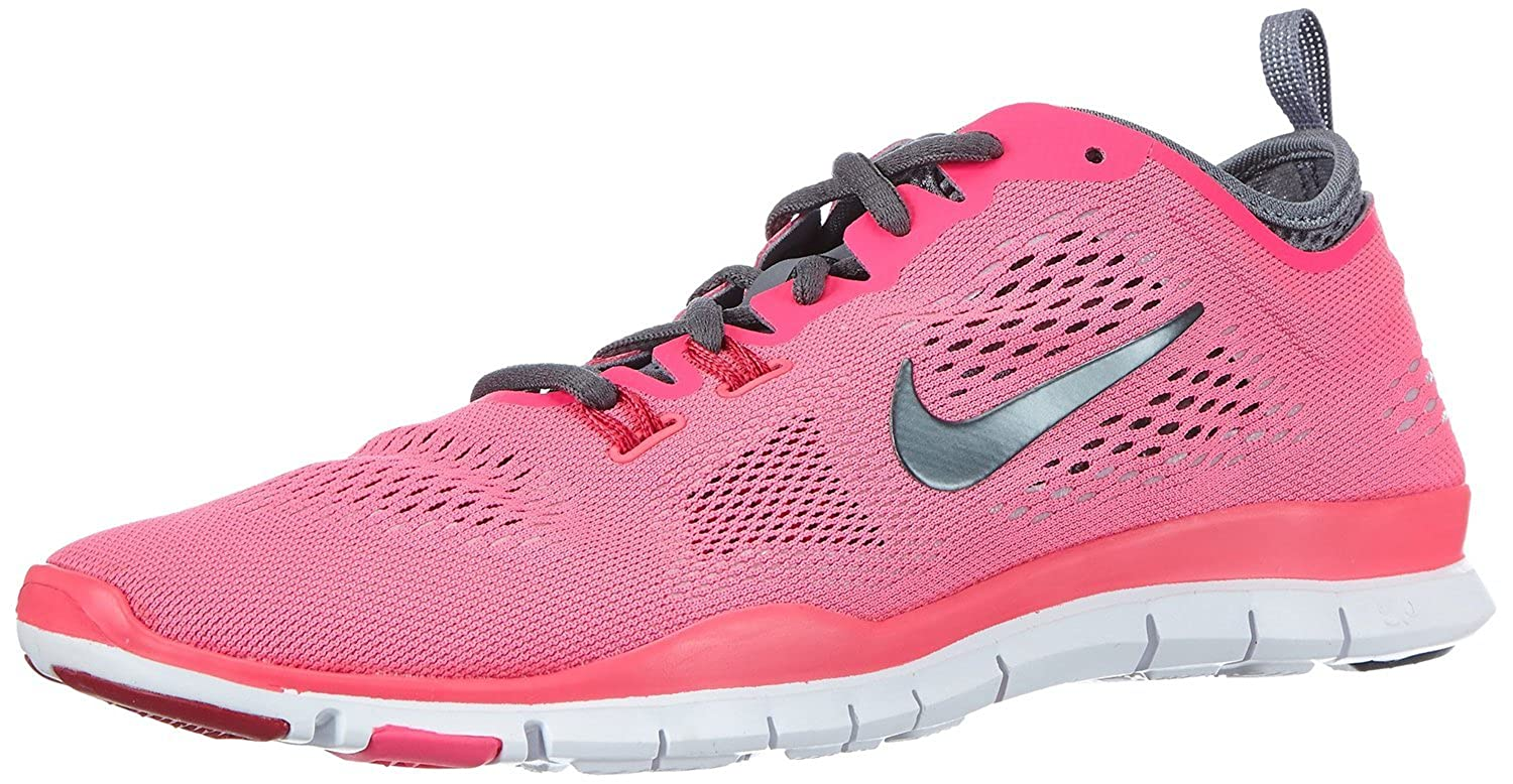 reputable site 0a8b6 f15f0 Amazon.com   Nike Free 5.0 TR Fit 4 (Hyper Pink Cool Grey Wolf Grey Dark  Grey) Womens Running Shoes (Hyper Pink Cool Grey Wolf Grey Dark Grey)    Athletic