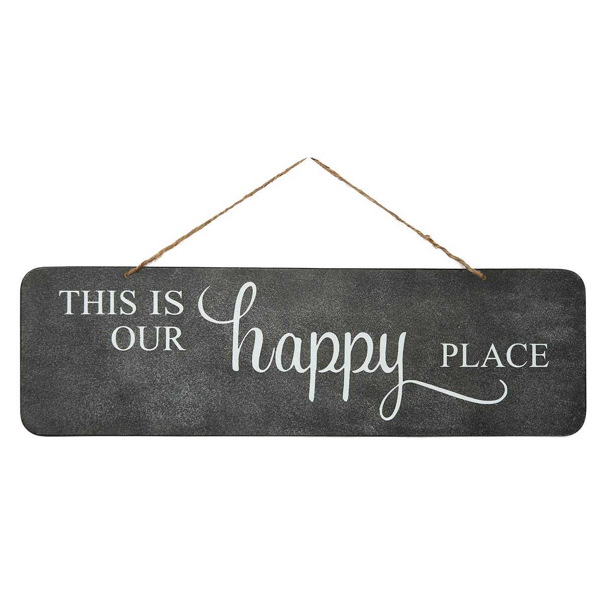 NIKKY HOME This is Our Happy Place Metal Wall Plaque Decorative Sign with Quote