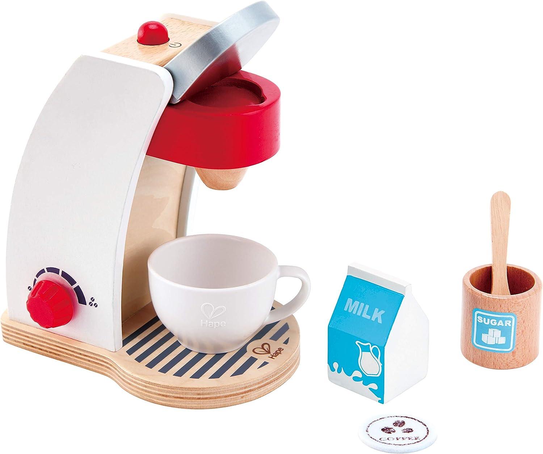 Hape My Coffee Machine Wooden Play Kitchen Set with Accessories (White)