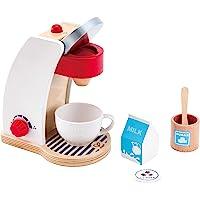 Hape Jeu d'Imitation en Bois-Cuisine-Machine à Café, E3146, Blanc