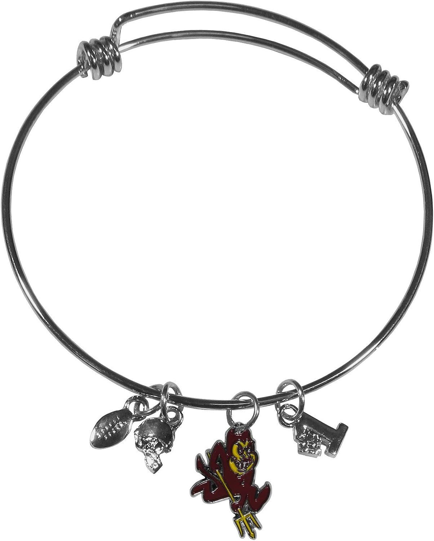 Siskiyou Sports NCAA unisex-adult Charm Bangle Bracelet