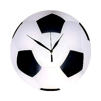 Reloj de Pared con diseño de balón de fútbol, de Cristal, para la ...