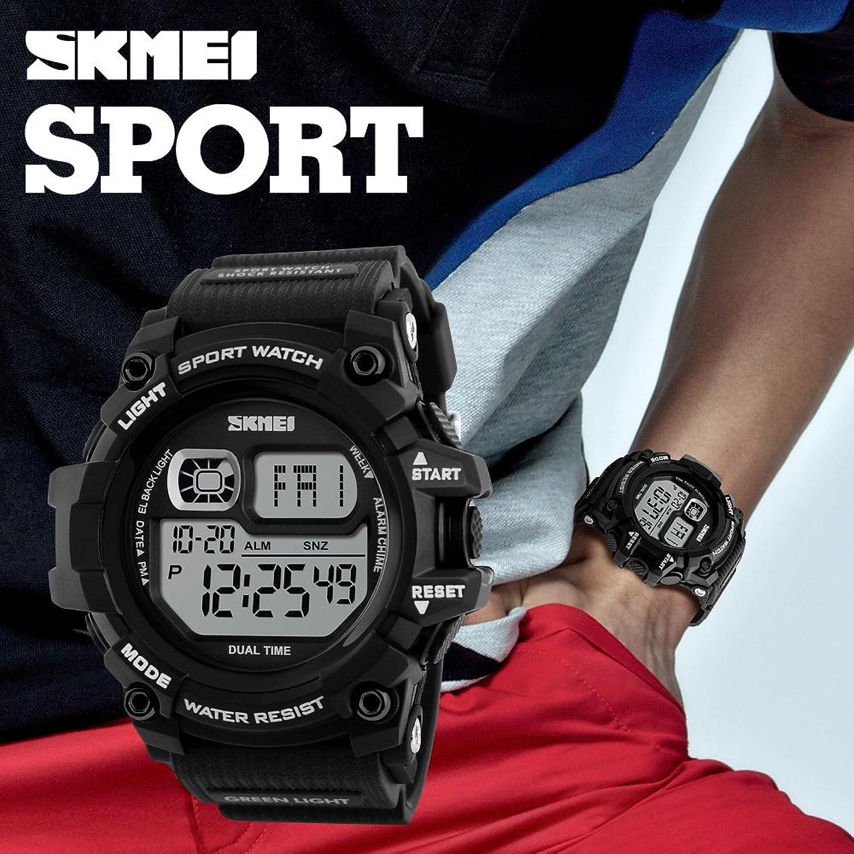 Amazon.com: Mastop Brand Mens Digital Watches Big Dial Multifunction Chronograph Outdoor Waterproof Sport Wrist Watch (Black): Watches