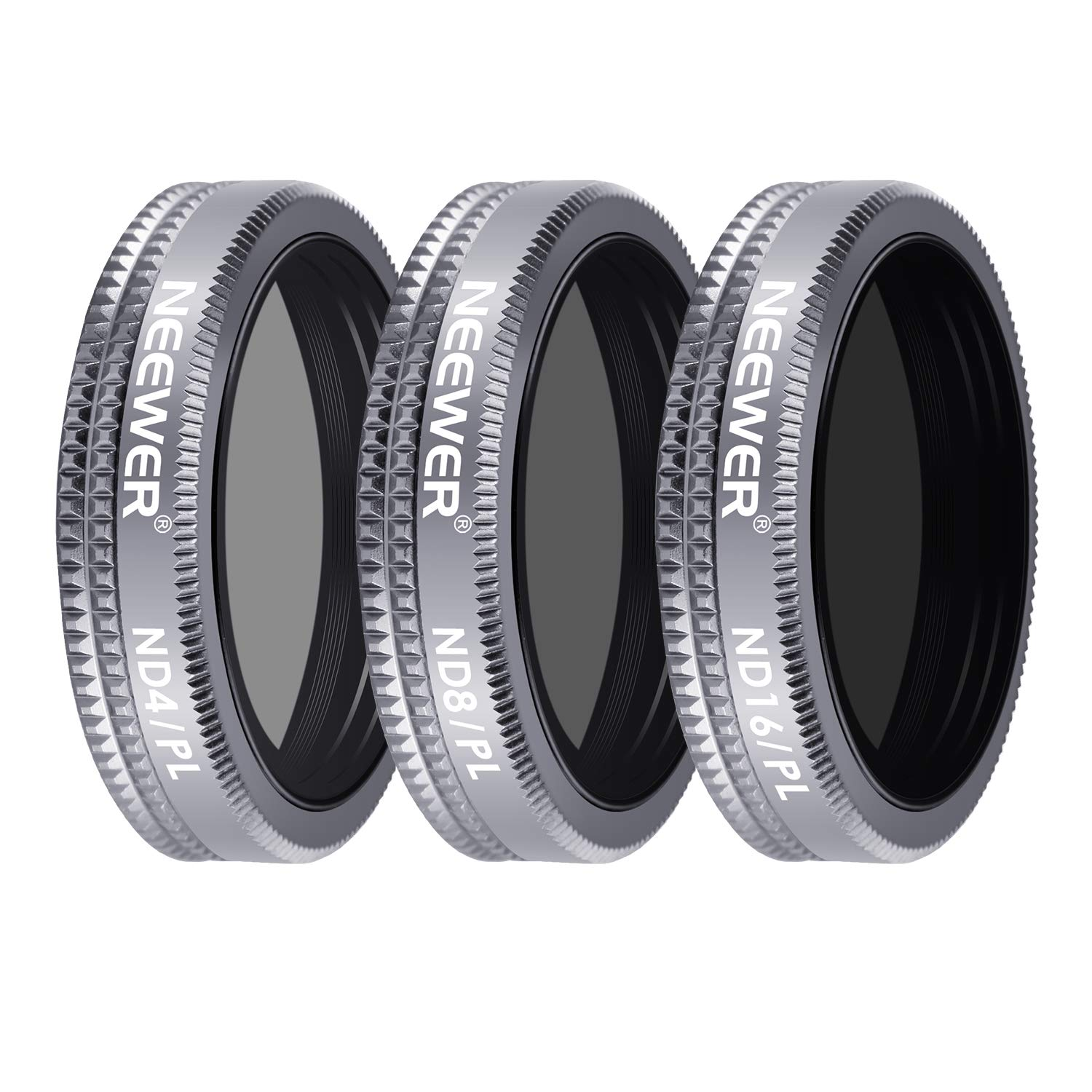 Neewer 4 Pieces Lens Filter Shutter Filter Kit for DJI Mavic 2 Zoom, Includes Multi-Coated ND32 ND64 ND32/PL ND64/PL Filters with Carrying Box for Outdoor Photography(Grey) 10094238