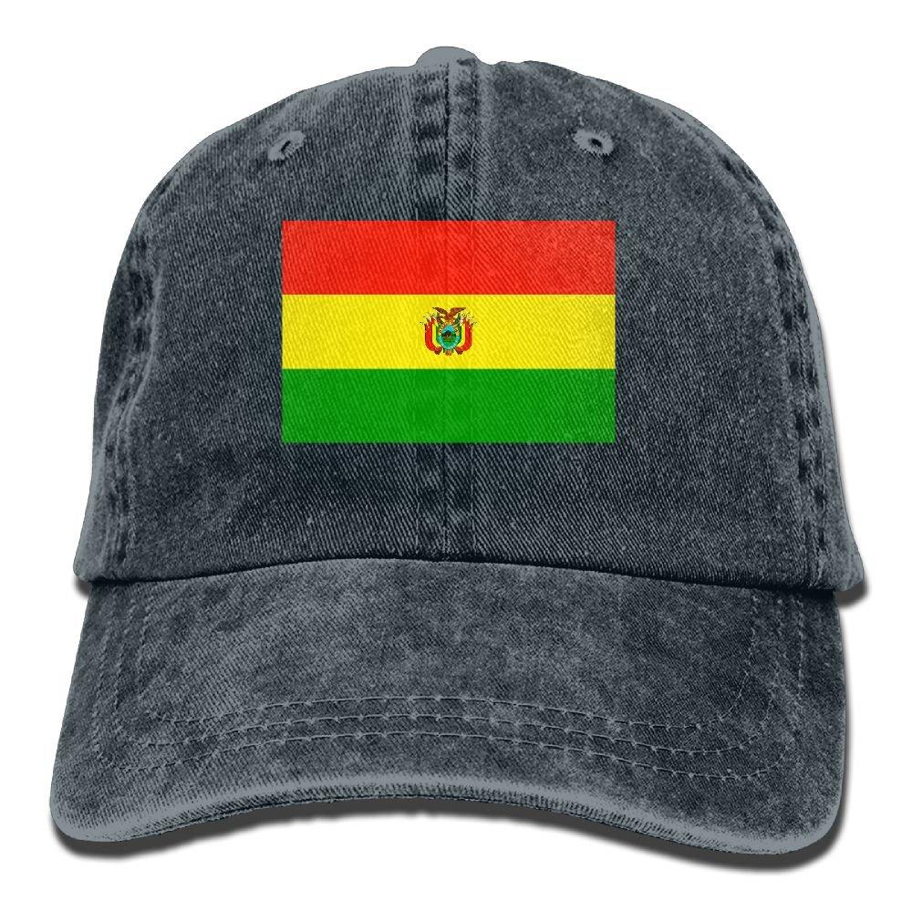 Trableade Bolivia Flag Stripes Unisex Sport Adjustable Structured Baseball Cowboy Hat