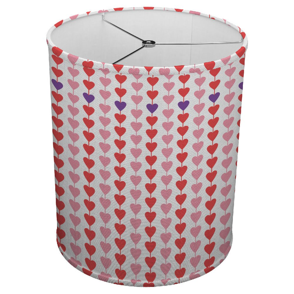 Hardback Linen Drum Cylinder Lamp Shade 8'' x 8'' x 8'' Spider Construction [ Red And Blue Political Love ]