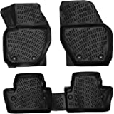Nylon Carpet Coverking Custom Fit Front and Rear Floor Mats for Select Volvo 760 Models Black CFMBX1VO7048