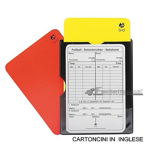 B&D - Juego de 2 tarjetas para árbitro de fútbol (una roja y ...