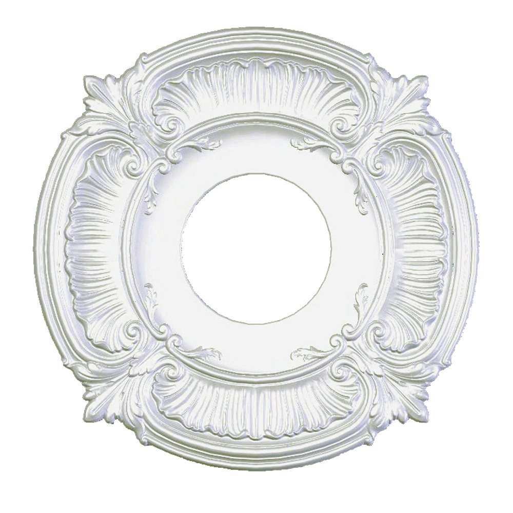 Focal Point Acanthus Medallion in Primed White (12-Inch)