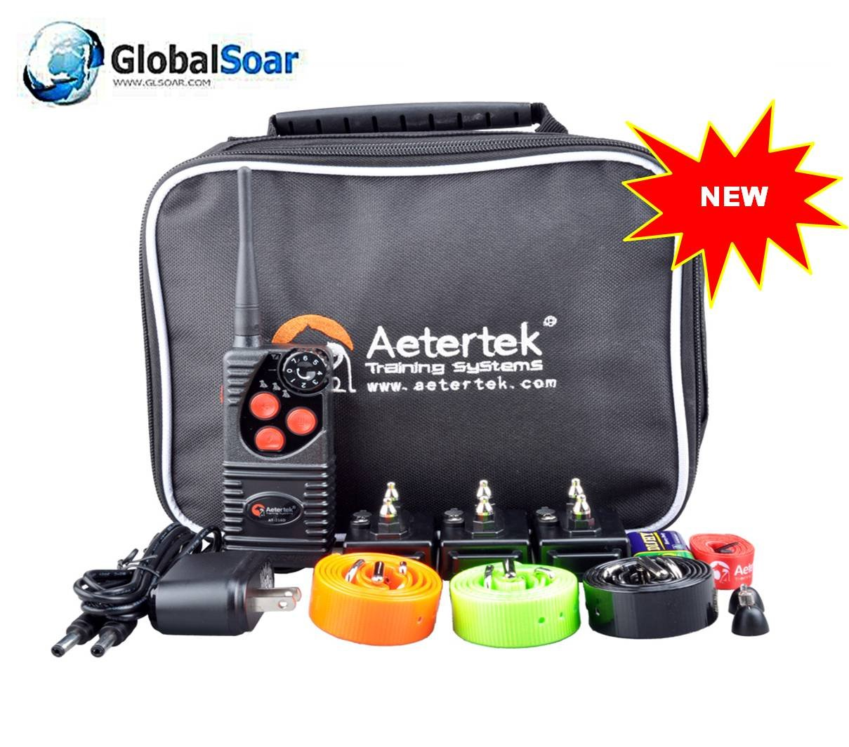 Aetertek 216D-550S-3 600 Yard 7 Level 1 Dog Training Anti Bark & Waterproof Collar