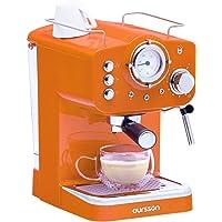Oursson Máquina de Café Espresso - Cappuccino, Retro, 15 Bares, Vaporizador Orientable, Capacidad 1.25 l, Café Molido…