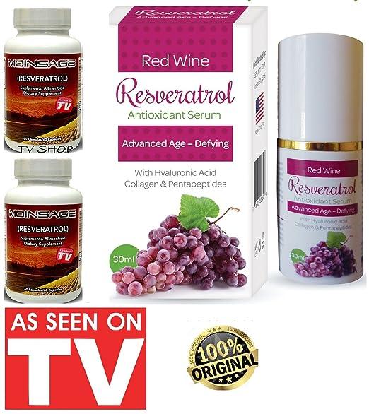 Amazon.com: 100% Original 2 Bottles Moinsage Resveratrol: Health & Personal Care