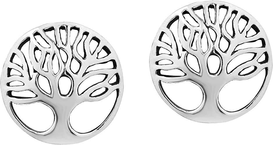 NEW Handcrafted Sterling Silver 925 Small Celtic Tree of Life Silver Earrings