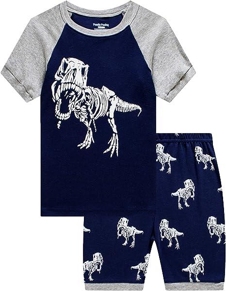 18-24 Months Lot de 4 Spotted Zebra 4-Piece Snug-Fit Cotton Pajama Short Set Rock Unicorn