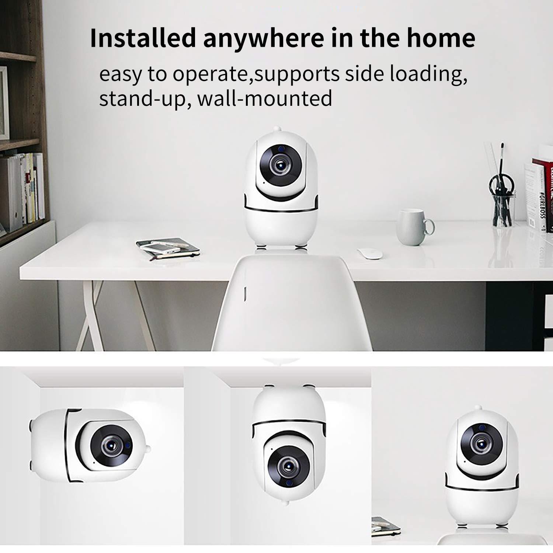detecci/ón de Movimiento Pan//Tilt Audio de Dos v/ías para beb/és HALUM C/ámara IP WiFi 1080P Home Security Vigilancia c/ámara inal/ámbrica para Interiores con visi/ón Nocturna HD Padres y Mascotas