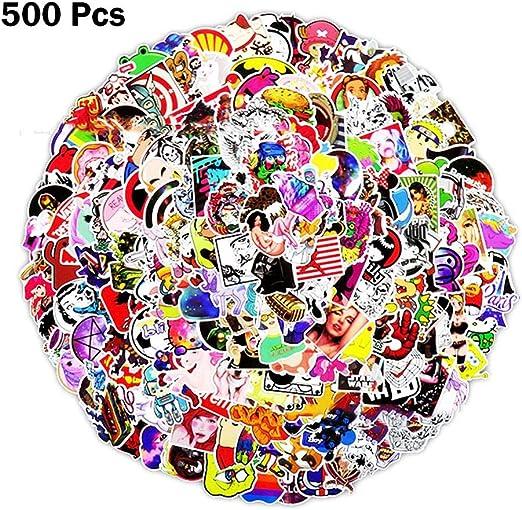 Rubyu 500PCS Paquete de Pegatinas Graffiti Sticker Pegatinas para Portátiles Sticker Pack de Autoadhesivos para Coches, Motocicleta, Bicicleta, Equipaje de Skateboard, Calcomanías y Pegatinas: Amazon.es: Hogar