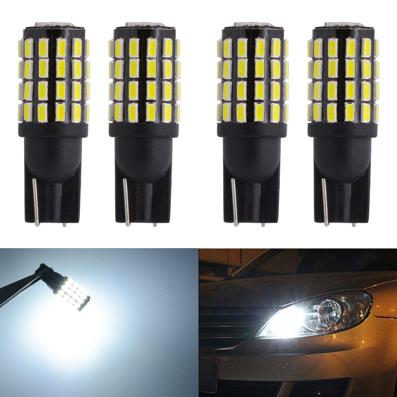 Katur - T101681751942825W5W 3014 - 2phares LED extrêmement lumineux - Phare avant et arrière - 800lumens - Haute puissance - Ampoules LED 12 à 24 V - Blanc Xenon
