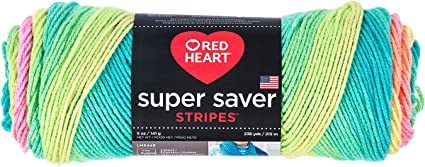 Red Heart Super Saver Yarn, Stripe - Retro