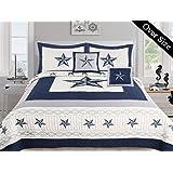 dallas cowboys comforter king size Amazon.com: Dallas Cowboys Draft   3 Piece King Size Bedding  dallas cowboys comforter king size