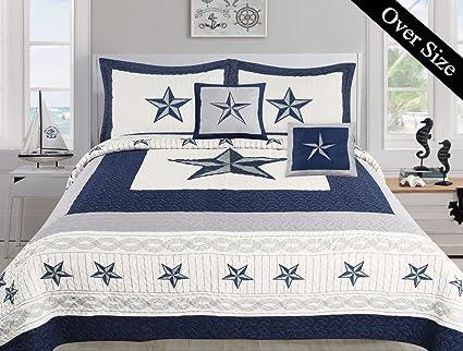 Dallas Cowboys Blue Star Comforter Set   5 Piece Set (Bonus Pack) (Oversized