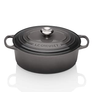 Le Creuset Signature Enameled Cast-Iron 5-Quart Oval French (Dutch) Oven, Oyster