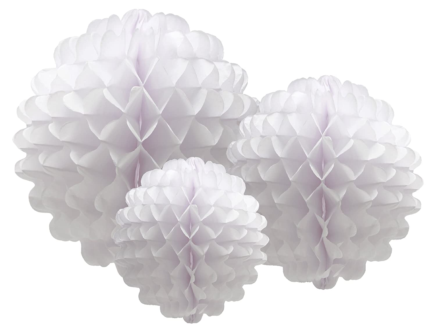 Amazon.com: Party Partners Design Hanging Honeycomb Tissue White Pom ...