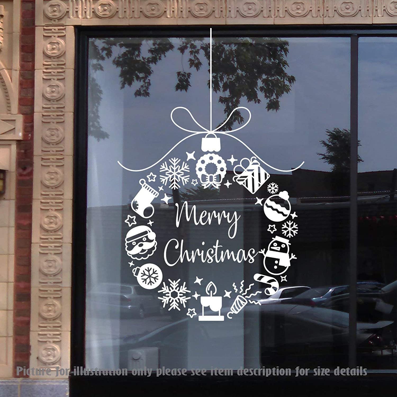 Christmas bells jingle bells snowflakes removable vinyl nursery wall decals christmas shop window decor wall art stickers playroom amazon ca handmade