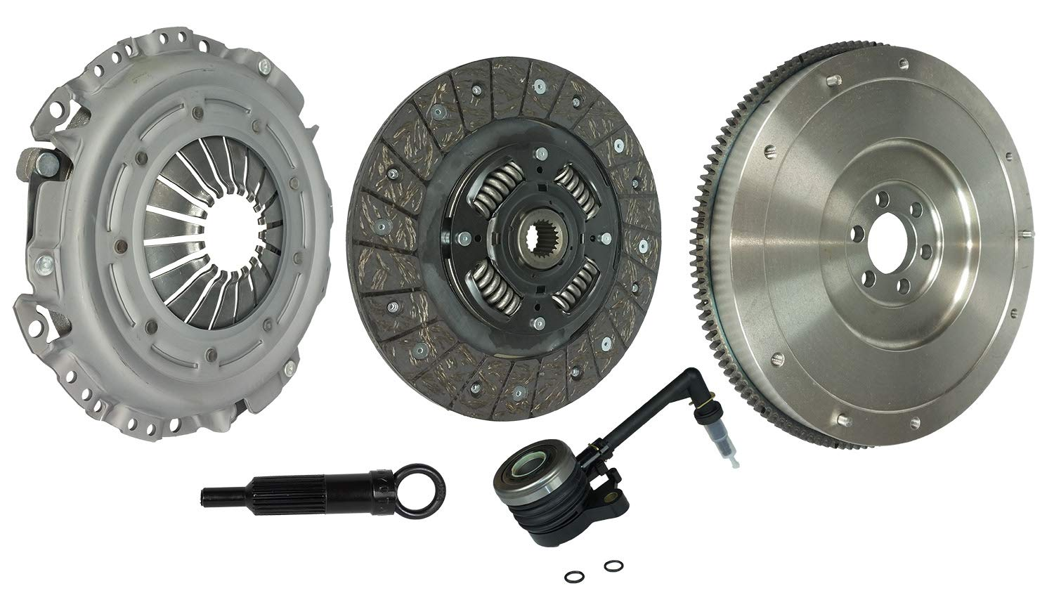 Clutch Kit Works With Nissan Sentra Altima Base S Sle Se-R Spec V Sl Sedan 4-Door Coupe 2-Door 2007-2012 2.5L l4 GAS DOHC Naturally Aspirated