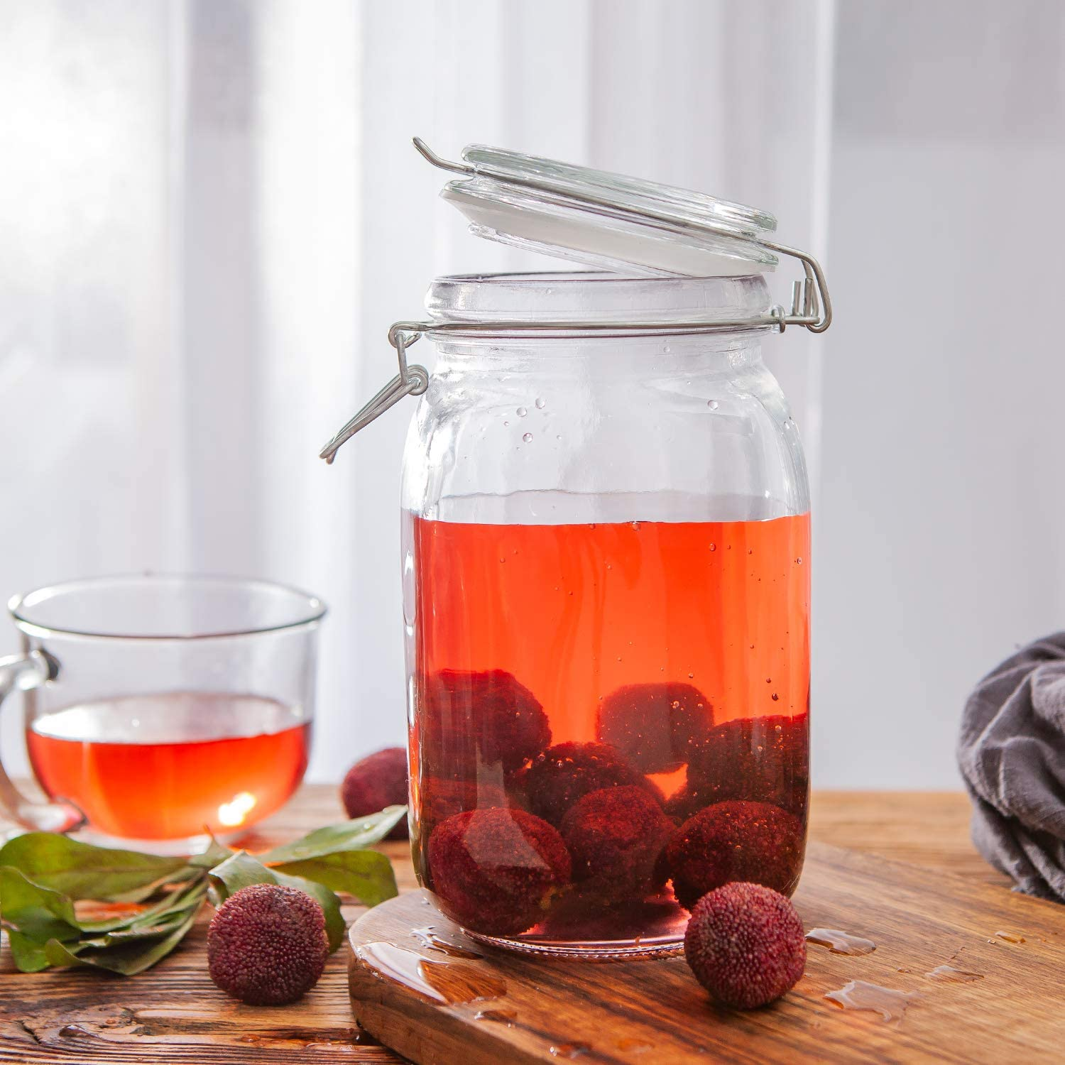 Glass Kitchen Storage Canister with Lid