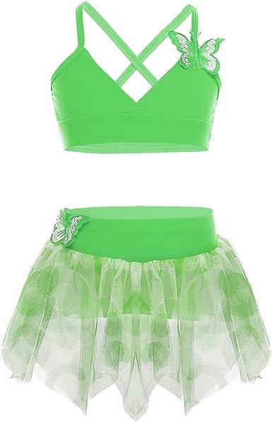 iiniim Big Girls Two Piece Floral Printed Tankini Swimsuit Swimwear Crop Top with Swim Briefs Set
