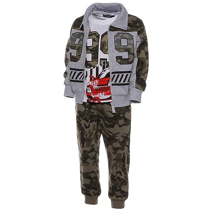 21768 3Tlg Set BEZLIT Baby Jungen Camouflage Hoodie Hose