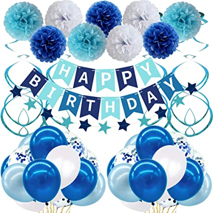Happy Birthday Banner Bunting Girl Boy Foil Banner Party Decoration Partyware