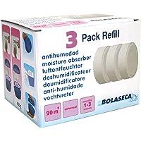 3 RECAMBIOS tabletas+tejido protector 450 gr AntiHumedad Deshumidificador